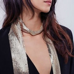 Skinny Chainmail Scarf Necklace